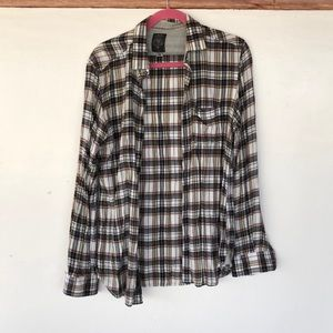 Diesel Industries Plaid Flannel Button Down Shirt